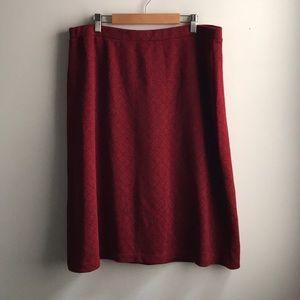 Liz Claiborne Skirts - Liz Claiborne red black square a-line knee skirt